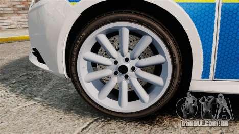 Ford Focus 2013 Uk Police [ELS] para GTA 4 vista de volta