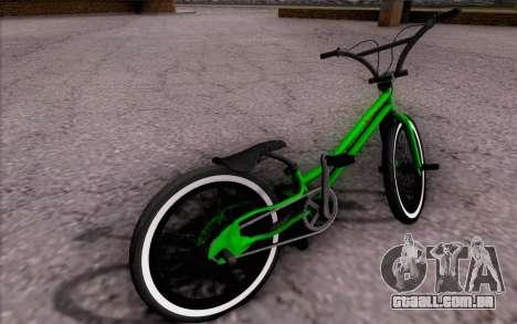 BMX Rebaixada para GTA San Andreas esquerda vista