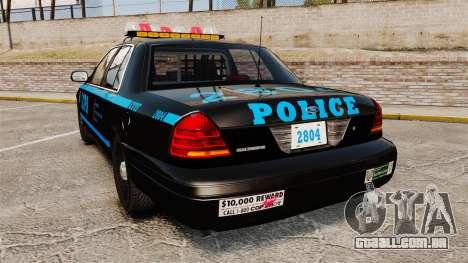 Ford Crown Victoria 1999 LCPD para GTA 4 traseira esquerda vista