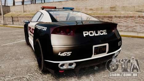 GTA V Police Elegy RH8 para GTA 4 traseira esquerda vista