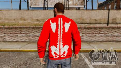 Camisola vermelha-esqueleto - para GTA 4 segundo screenshot