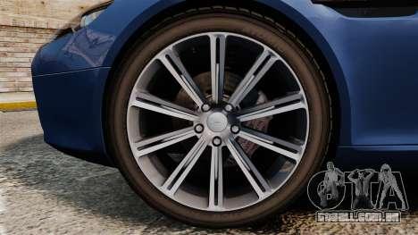Aston Martin Rapide 2010 para GTA 4 vista de volta