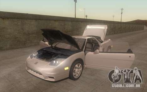 Acura NSX para GTA San Andreas vista traseira