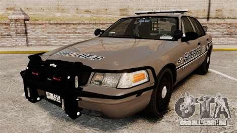 Ford Crown Victoria 2008 Sheriff Traffic [ELS] para GTA 4