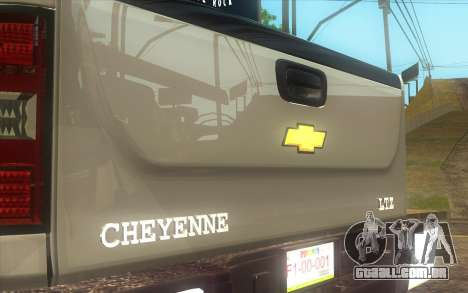 Chevrolet Cheyenne LT 2012 para GTA San Andreas traseira esquerda vista