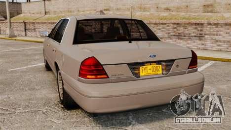 Ford Crown Victoria 1999 para GTA 4 traseira esquerda vista