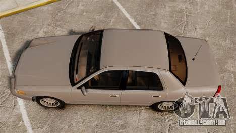Ford Crown Victoria 1999 para GTA 4 vista direita