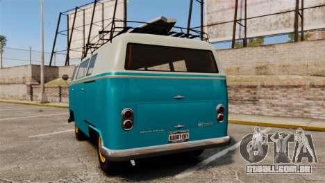 GTA V BF Surfer Burgerfahrzeug para GTA 4 traseira esquerda vista