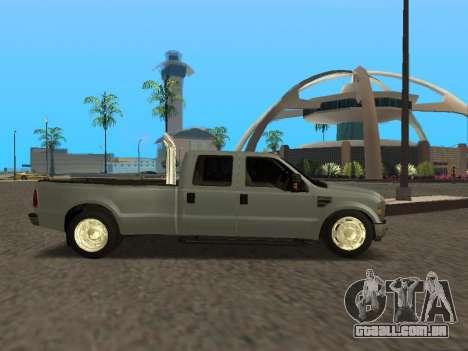 Ford F-350 para GTA San Andreas vista direita