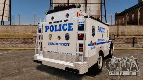 Ford F-550 2012 NYPD [ELS] para GTA 4 traseira esquerda vista