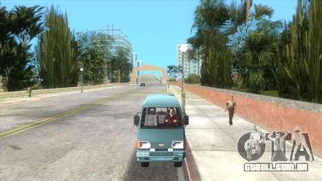 Kia Towner para GTA Vice City vista traseira esquerda