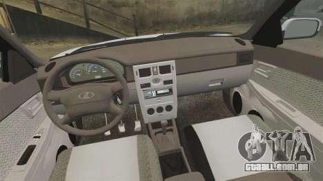 Lada Priora para GTA 4 vista superior