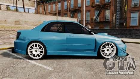 Subaru Impreza HD Arif Turkyilmaz para GTA 4 esquerda vista
