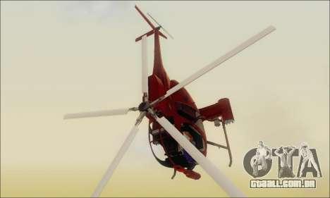 Helicóptero de ataque do abutre de GTA 5 para GTA San Andreas traseira esquerda vista