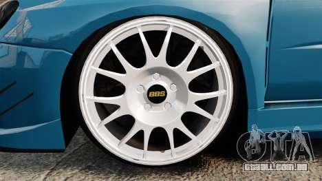Subaru Impreza HD Arif Turkyilmaz para GTA 4 vista de volta