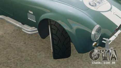 Shelby Cobra 427 SC 1965 para GTA 4 vista inferior