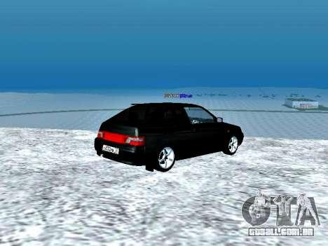 LADA 2112 Coupe verde Sandpiper para GTA San Andreas traseira esquerda vista
