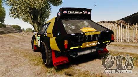Lancia Delta S4 GroupB para GTA 4 traseira esquerda vista