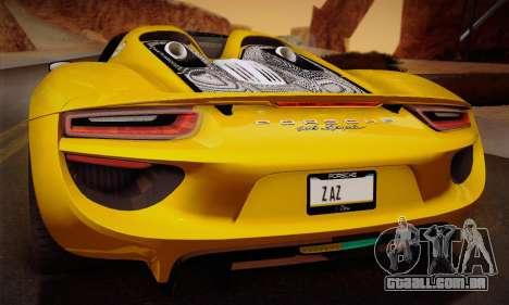Porsche 918 Spyder 2014 para as rodas de GTA San Andreas