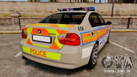 BMW 330 Metropolitan Police [ELS] para GTA 4 traseira esquerda vista