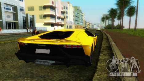 Lamborghini Aventador LP720-4 50th Anniversario para GTA Vice City vista traseira esquerda