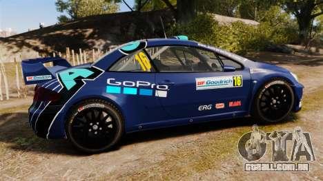 Peugeot 307 WRC para GTA 4 esquerda vista