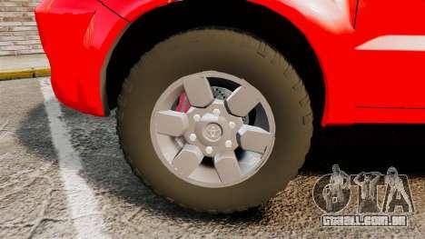 Toyota Hilux London Fire Brigade [ELS] para GTA 4 vista de volta