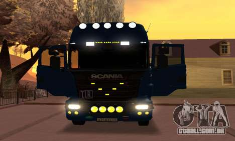Scania Topline R730 V8 para GTA San Andreas vista traseira