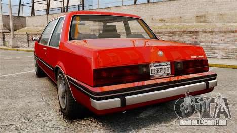 Willard Coupe para GTA 4 traseira esquerda vista