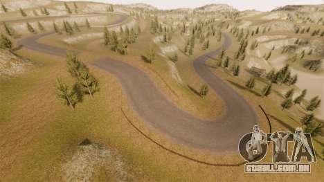 Cliffside localização Rally para GTA 4 nono tela
