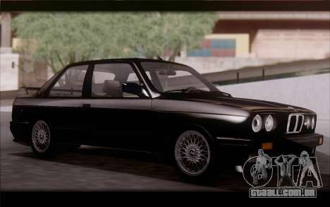 BMW M3 E30 Stock Version para GTA San Andreas esquerda vista