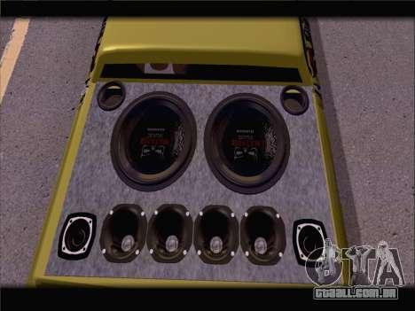 New Slamvan para GTA San Andreas vista traseira