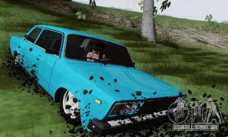 VAZ 2107 Coupe para GTA San Andreas vista traseira