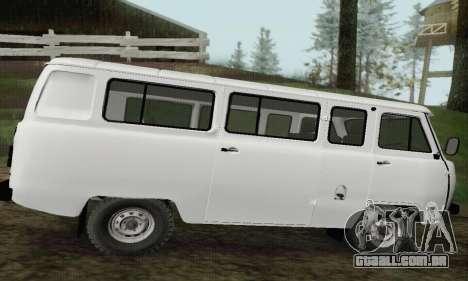UAZ 2206 pão para GTA San Andreas esquerda vista