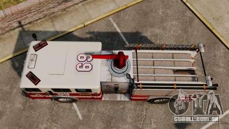Caminhão de bombeiros para GTA 4 vista direita