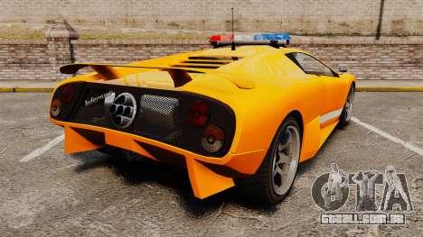 Infernus Police para GTA 4 traseira esquerda vista
