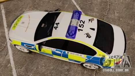 BMW M5 Marked Police [ELS] para GTA 4 vista direita