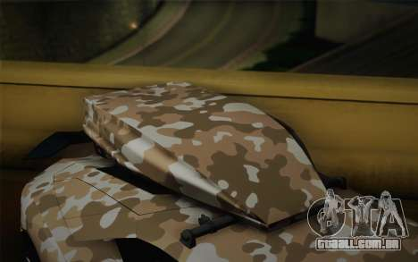 Lamborghini Aventador LP 700-4 Camouflage para GTA San Andreas vista direita