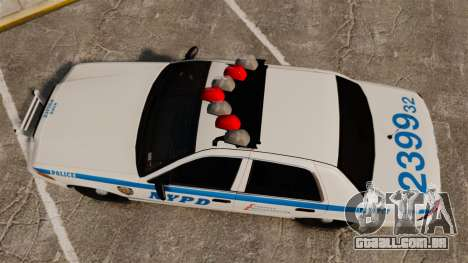 Ford Crown Victoria 1999 NYPD para GTA 4 vista direita