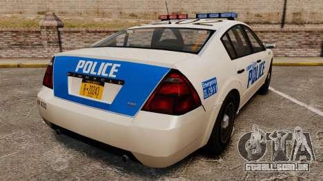 Pinnacle Police LCPD [ELS] para GTA 4 traseira esquerda vista