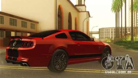 Ford Shelby GT500 2013 para GTA San Andreas traseira esquerda vista