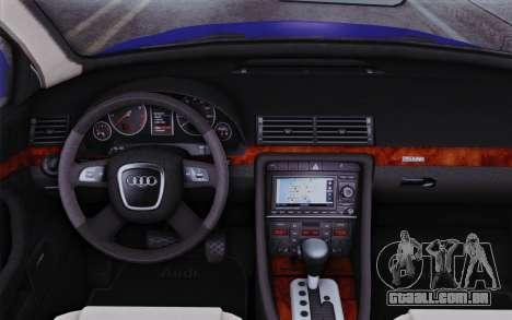 Audi A4 2005 Avant 3.2 Quattro Open Sky para GTA San Andreas vista direita