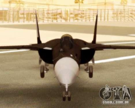 Su-47 Berkut v 1.0 para GTA San Andreas traseira esquerda vista