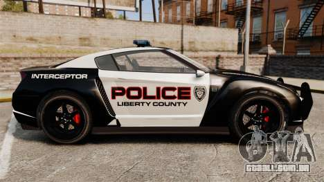 GTA V Police Elegy RH8 para GTA 4 esquerda vista