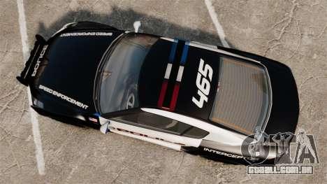 GTA V Police Elegy RH8 para GTA 4 vista direita