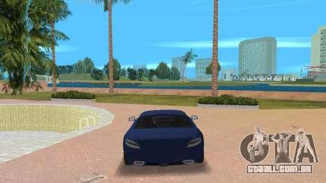 Mercedes-Benz SLS AMG V12 para GTA Vice City vista traseira esquerda