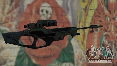 Rifle sniper de Timeshift para GTA San Andreas segunda tela