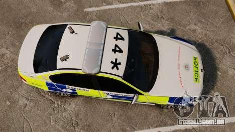 BMW 330i Hampshire Police [ELS] para GTA 4 vista direita