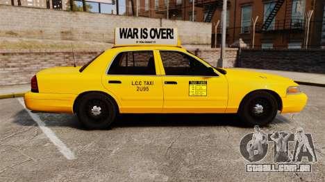Ford Crown Victoria 1999 LCC Taxi para GTA 4 esquerda vista