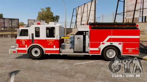 Firetruck Alderney [ELS] para GTA 4 esquerda vista